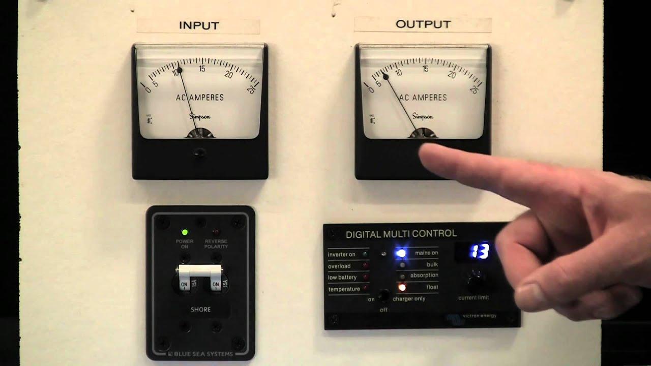 Victron Multi Plus Sine Wave Inverter Charger Youtube Cotekinverterandbatterybankwiringjpg