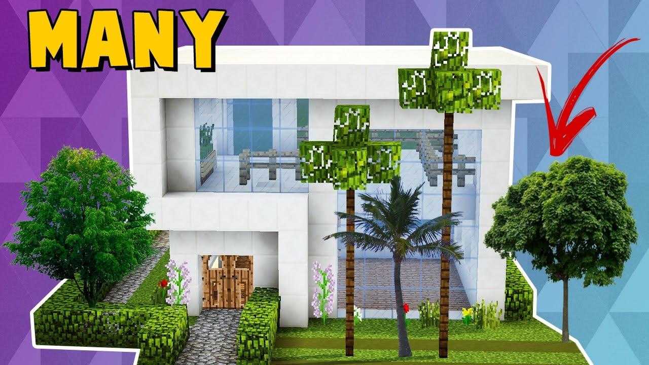 Minecraft como fazer uma pequena casa moderna many youtube for Casa moderna y pequena en minecraft