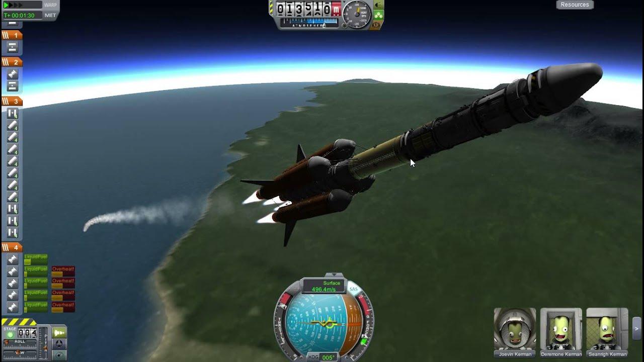 Kerbal Space Program- Big Rocket Carries Space Station But ...