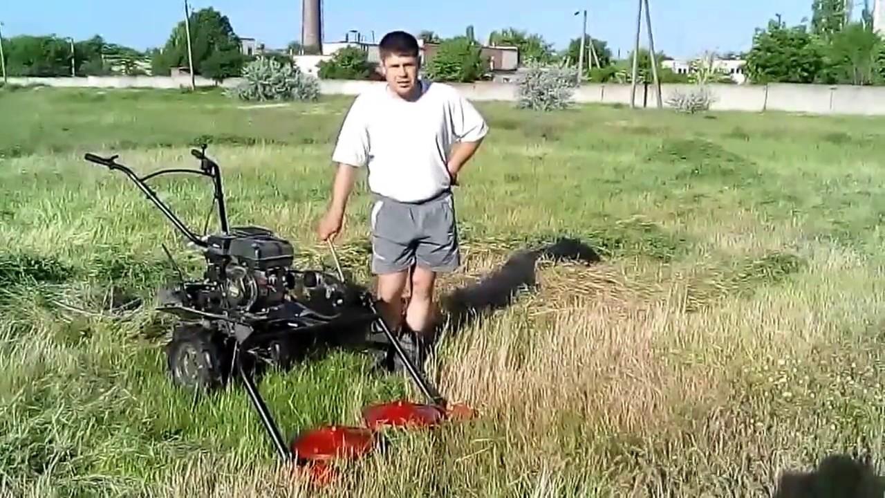 Как работает роторная косилка КР-01 с мотоблоком Zirka LX3060G