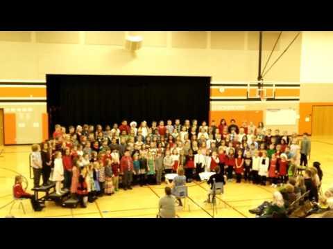 Shinjini Grade 3 Christmas concert At Hemlock creek elementary school