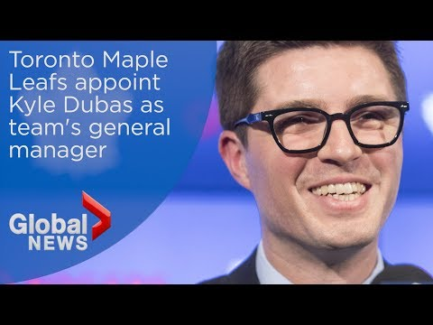 Toronto Maple Leafs introduce Kyle Dubas as new general manager