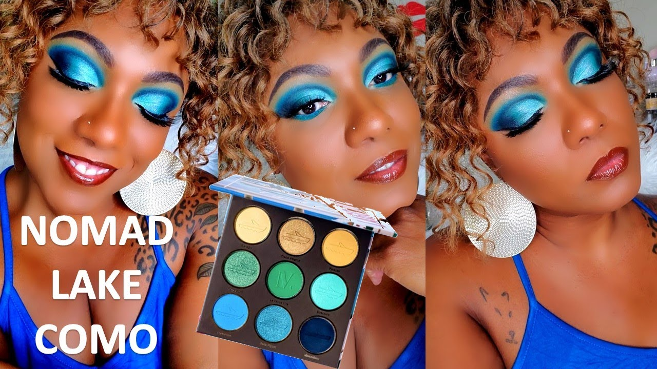 Nomad Cosmetics LAKE COMO Palette & Studio 54 Highlighters - Eye Look & Swatches