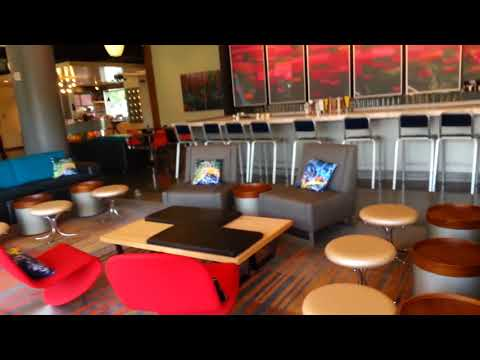 Swanky hotel, part 2 - funky lobby, gameroom, and wacky chairs!