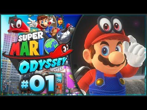 Super Mario Odyssey - Cap Kingdom 100% Walkthrough! [Part 1]