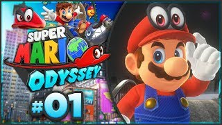 Super Mario Odyssey - Cap Kingdom 100% Walkthrough! [Part 1]