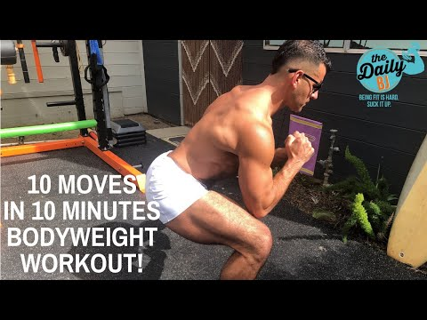 10 MOVES IN 10 MINUTES BODYWEIGHT WORKOUT! | BJ Gaddour Men's Health MetaShred Circuit