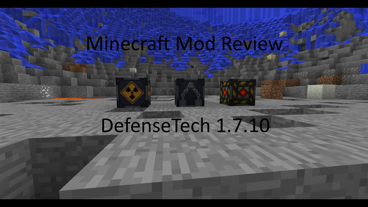Minecraft Mod Review DefenseTech 1710 YouTube