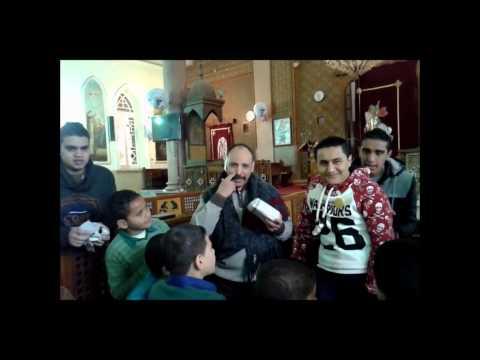 لعبه الهديه الدوارة فى حفله عيد الميلاد المجيد فى اجتماع اعدادى 2015