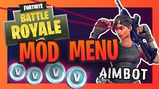 Fortnite Aimbot - Free V-bucks and MOD MENU Tutorial - xbox ps4 pc