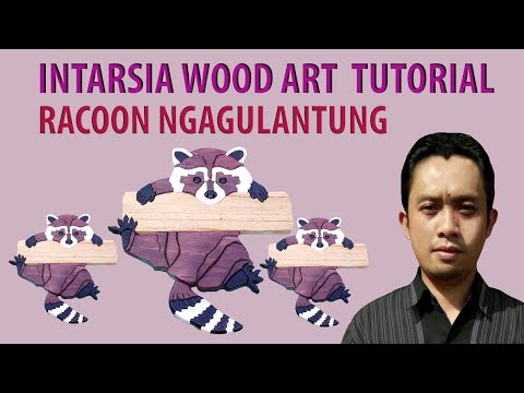 Intarsia Wood Art Racoon Tutorial
