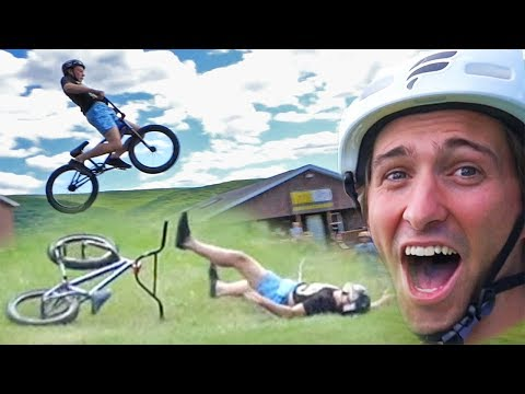 INSANE BMX KIDS HAVE 50FT JUMPING CONTEST! MAJOR CRASHES!