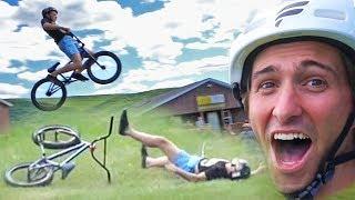 INSANE BMX KIDS HAVE 50FT JUMPING CONTEST! MAJOR CRASHES!
