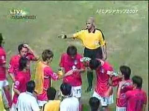 AFCアジアカップ2007 - 韓国がルールを破り、休憩する
