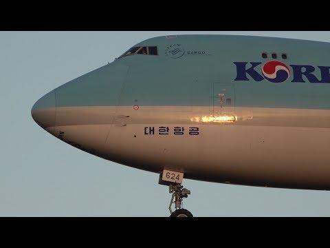 Korean Air Cargo Boeing 747-8F HL7624 Landing at NRT 34L