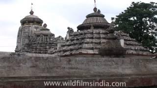 Majestic structure of Bhubaneshwar -  Lingaraj Temple, Orissa