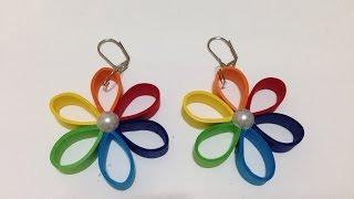 Quilling Earrings Rainbow