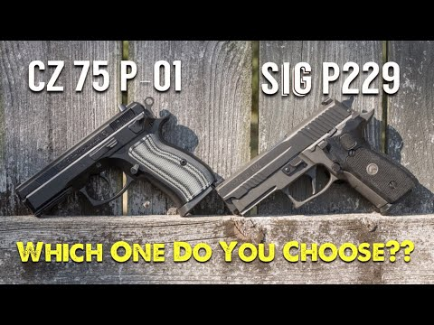 cz p 01 vs sig p229 legion which one do you choose youtube