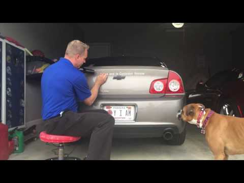 How to remove a dealer sticker from the back of your car.