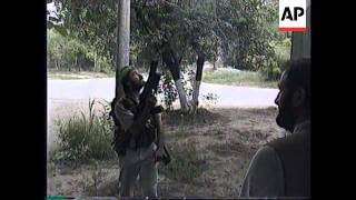 RUSSIA: CHECHNYA: SECOND DAY OF REBEL OFFENSIVE IN GROZNY