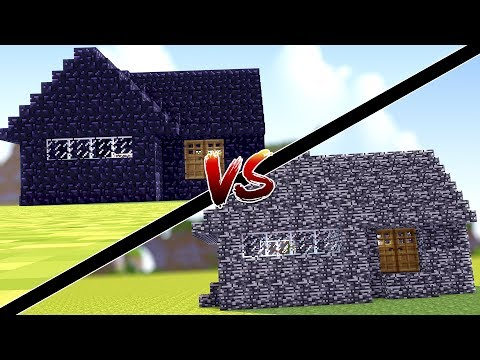 Minecraft: CASA DE BEDROCK VS CASA DE OBSIDIAN !!