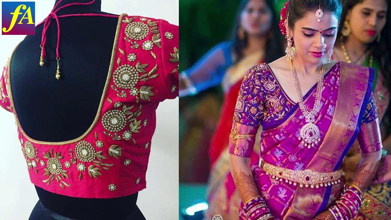 5d93cd11e5a1a Blouse Designs for Silk Saree