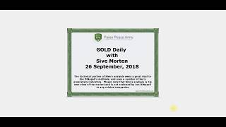 Forex Peace Army | Sive Morten Gold Daily 09.26.18