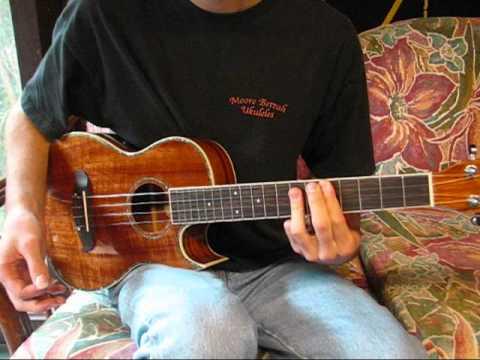Oscar Schmidt OU55CE 'ukulele sound demo