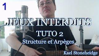 Guitare Débutant - Jeux Interdits 1 - Tuto 2/14 - Arpèges et Structure - Tablature  Forbidden Games