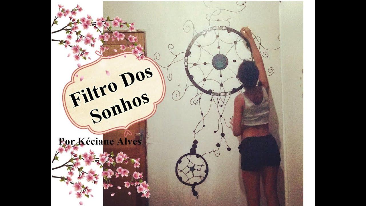 Filtro Dos Sonhos Dream Catcher Desenho Em Parede Por Keci