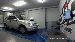 Mercedes ML 270 cdi 163cv AUTO Reprogrammation Moteur @ 197cv Digiservices Paris 77 Dyno