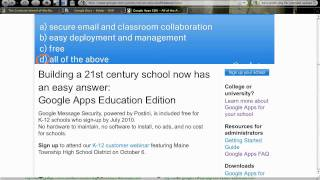 Starting an account. Part 1 of 5 of setting up a small school on Google Apps for Education (K-12).