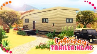 THE SIMS 4 | GETAWAY TRAILER HOME💗🚘 // SPEED BUILD