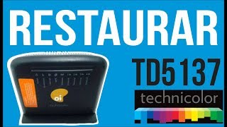 Technicolor TD5137 Restaurar modem - Restaurar padrão de fábrica