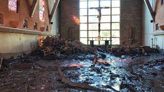 Crucifix Incredibly Survives Church