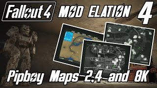 Mod Elation Ep.4 Color Map, Satellite World Map and Improved Map with Visible Roads