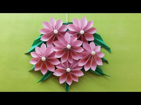 origami-easy-paper-flower-|-paper-flower-wall-hanging-|-diy-handmade-craft---wall-decoration-ideas