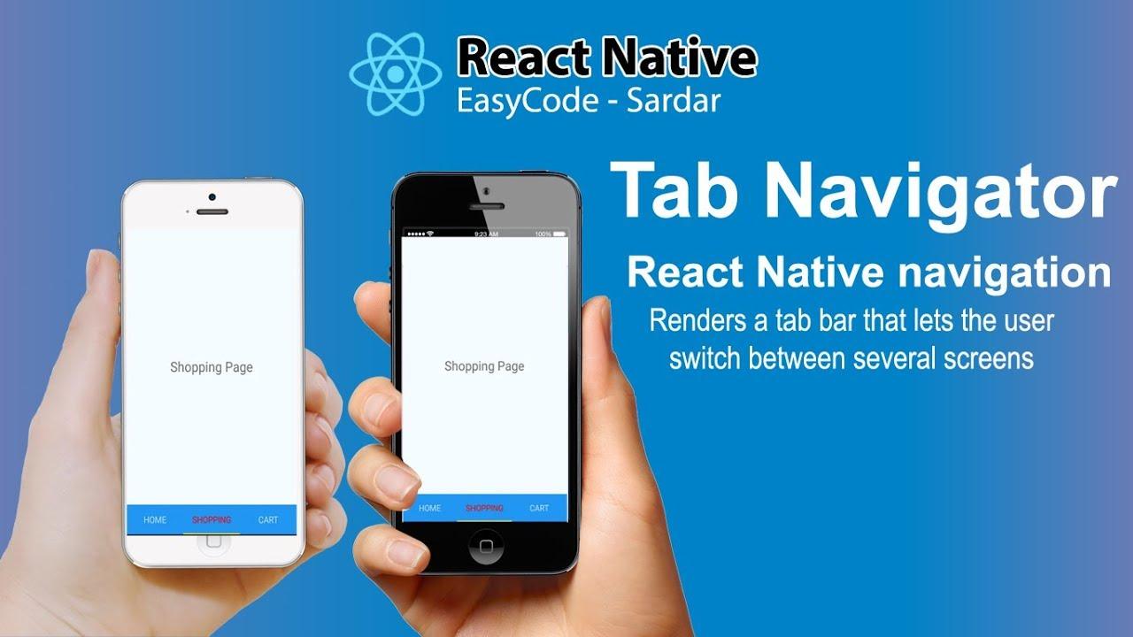 React Native Tab Navigator tutorial for beginners