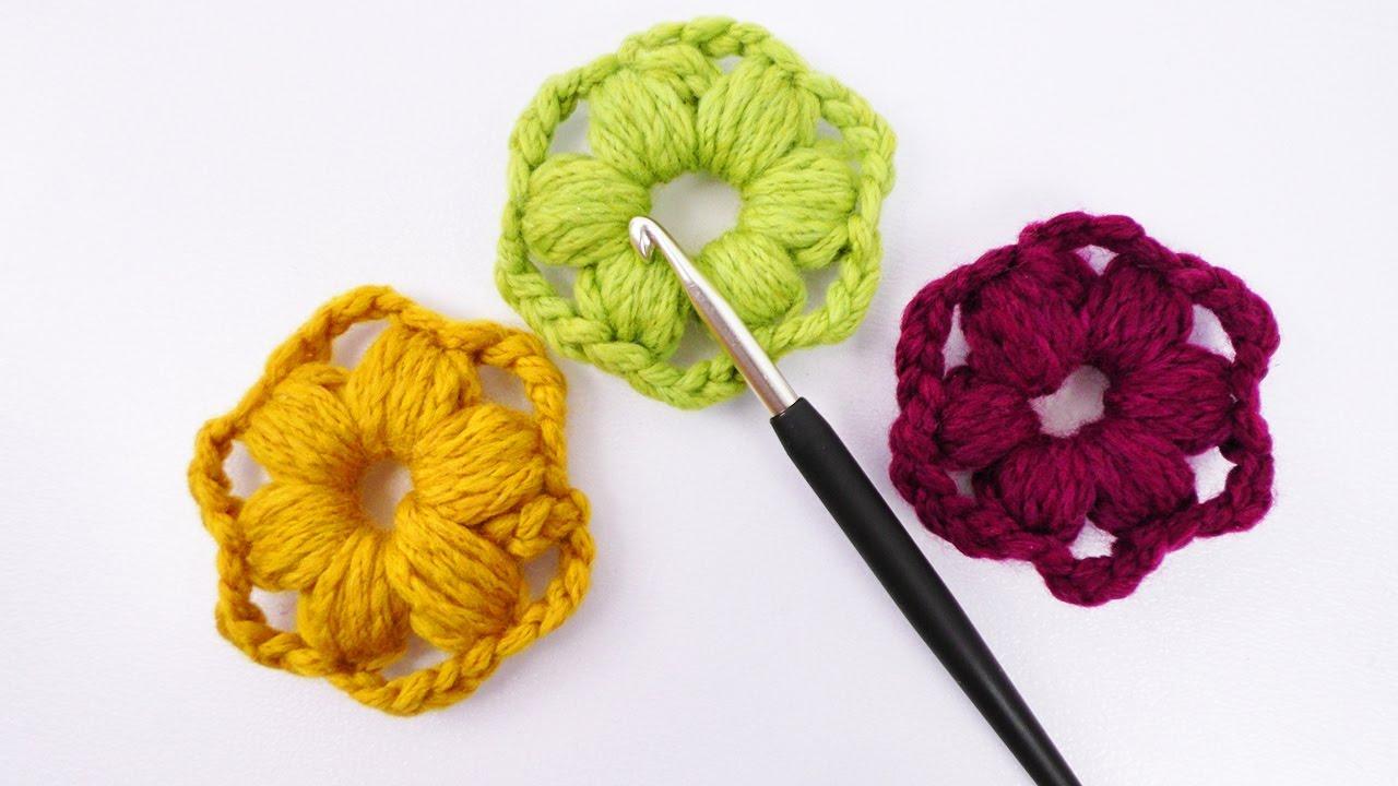 Süße Blumen Aus Wollresten Häkeln Einfache Schnelle Deko Idee