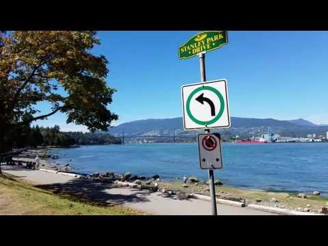 Biking in Stanley Park, Vancouver