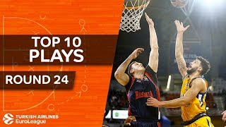 Top 10 Plays  - Turkish Airlines EuroLeague Regular Season Round 24