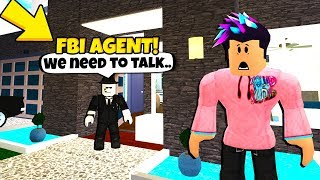 FBI Agents Came To My House.. They Found THIS In My Basement! (Roblox)