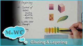 Gambar cover Watercolor Glazing and Layering Basics