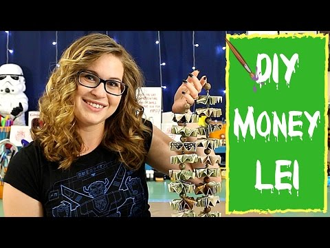 DIY CRAFTS FOR KIDS- EASY MONEY LEI!