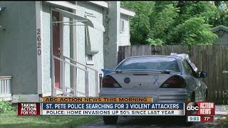 st pete police searching for 3 violent attackers