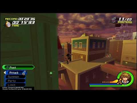 Kingdom Hearts 2.5 Mini Game Tutorial: Poster Duty