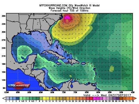 Hurricane Maria Could be near Carolina coast Wednesday?