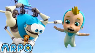 Arpo the Robot   Buggy on the LOOSE!!!  Stop that Dog!   Funny Cartoons for Kids   Arpo and Daniel