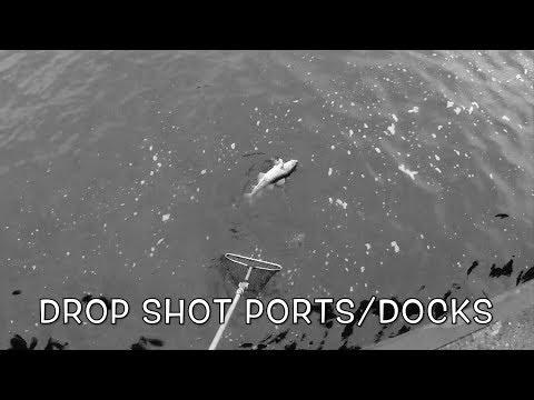 Drop shot fishing ports/docks - GoPro/Water Wolf - Hamnar Torskfiske Öresund