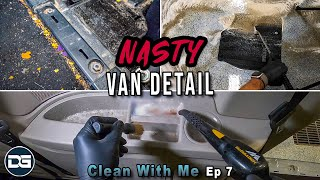 Deep Cleaning a NASTY Minivan | Clean With Me Ep. 7 Satisfying Car Detailing!